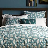 Bedding - Organic Ironwork Duvet Cover + Shams | west elm - organic, ironwork, duvet, shams