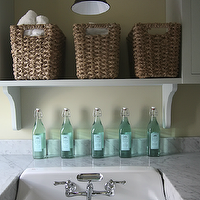 Urban Grace Interiors - laundry/mud rooms - laundry room, laundry room design, laundry room ideas, cottage laundry room, amazing laundry room, dream laundry rooms, farmhouse sink, laundry room with farmhouse sink, laundry room farmhouse sink, farmhouse sink in laundry room, white carrera marble, white carrera marble countertops, laundry room cabinets, laundry room shelving,