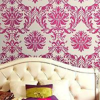 Art/Wall Decor - Wall Stencil Damask Gabrielle Reusable by CuttingEdgeStencils - wall stecil
