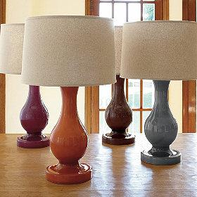 Lighting - Belly Milk Glass Table Lamp | The Company Store - belly, table, lamp