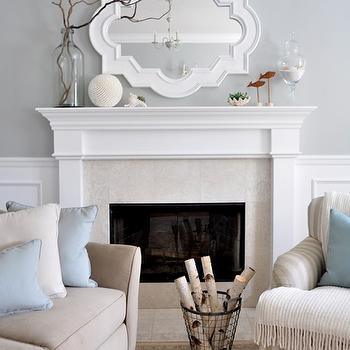 Centsational Girl - living rooms: casbah mirror, white casbah mirror, white mirror, fireplace mirror, painted mirror, mirror over fireplace,