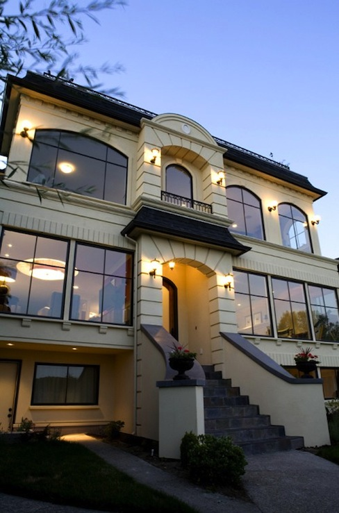French home exterior transitional home exterior paul for Modern french balcony