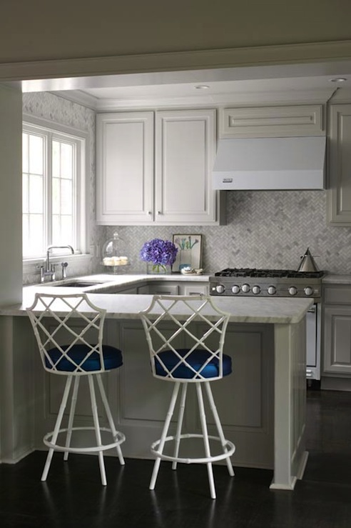 Faux Bamboo Bar Stool - Contemporary - kitchen - Sherwin Williams ...