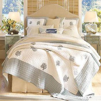 Beds/Headboards - Riley Headboard & Slipcover | Pottery Barn - riley, slipcovered, headboard