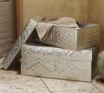 Decor/Accessories - Kuta Offering Trunks - Accessories - VivaTerra - hammered, metal, kuta, trunks