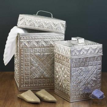 Decor/Accessories - Kuta Hamper and Waste Bin - Accessories - VivaTerra - hammered, metal, hamper, waste bin
