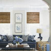 Blue Couch Cottage Living Room House Beautiful