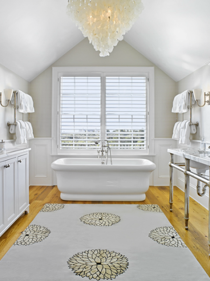 Vaulted Ceiling in Bathroom - Transitional - bathroom - Kathleen ...