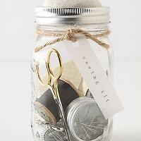 Decor/Accessories - Mason Jar Sewing Kit - Anthropologie.com - mason jar, sewing, kit