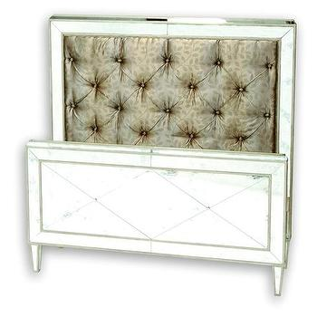 Beds/Headboards - Store: Monroe Bed (Q) - mirrored, tufted, monroe, bed