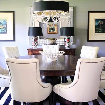 Tufted Dining Chairs, Transitional, dining room, Behr Fashion Gray, Knight Moves