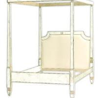 Beds/Headboards - Store: Jewel Mirror Bed (K) - mirrored, bed