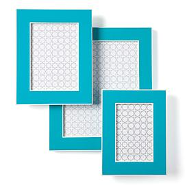 Decor/Accessories - Z Gallerie - Gelato Frames - Aquamarine - aquamarine, picture, frame