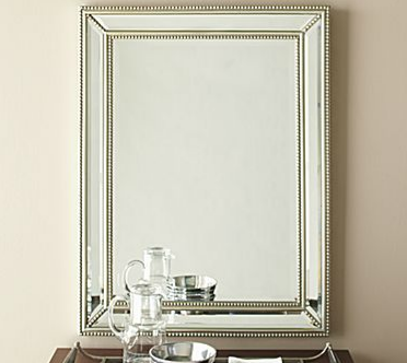 Horchow beaded beveled mirror look 4 less for Decorative mirrors for less