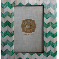 Decor/Accessories - Chevron Frame - Green - green, chevron, frame