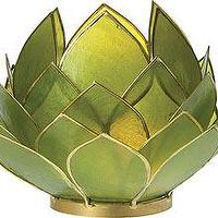 Decor/Accessories - Green Capiz Lotus - green, capiz, lotus