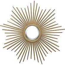 Mirrors - Global Views 9.90663 Mini Sunburst Mirror, Gold - sunburst mirror, gold mirror