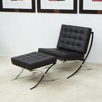Seating - Pavilion Black Leather Modern Accent Lounge Chair - New | eBay - Black Leather Modern Accent Lounge Chair