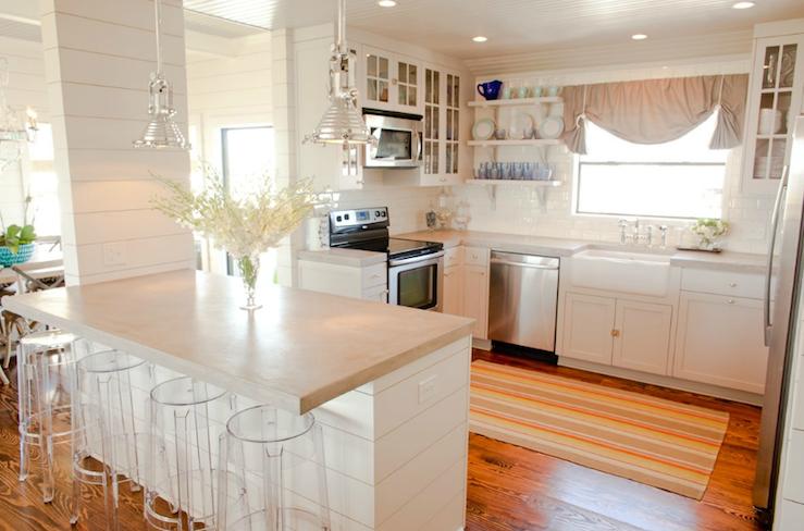 Concrete Countertop Cottage Kitchen Munger Interiors