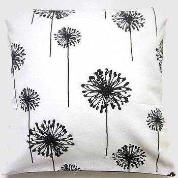 Two CovBlack on White Decorative Pillow ers by LynnesThisandThat
