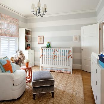 Striped Nursery, Contemporary, nursery, Anyon Interior Design