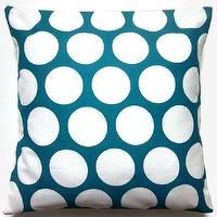 Pillows - Two Turquoise White Pillow Covers Handmade by LynnesThisandThat - Turquoise White Pillow Covers