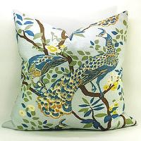 Pillows - Dwell Studio Vintage Plumes peacock pillow cover in by labdesigns - Vintage Plumes peacock pillow