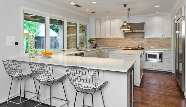 Bertoia Counter Stools Contemporary Kitchen More
