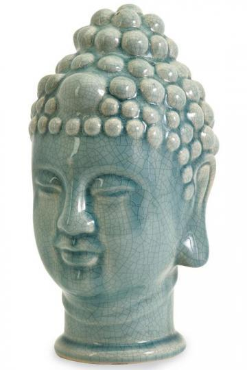 Taibei Ceramic Buddha Head - Table Accents - Home Accents - Home ...