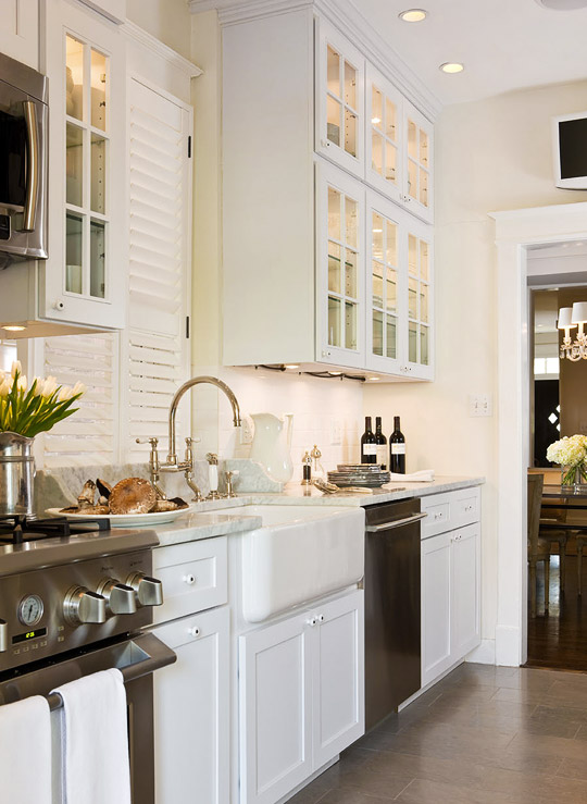 Galley kitchen traditional kitchen benjamin moore for Traditional galley kitchens