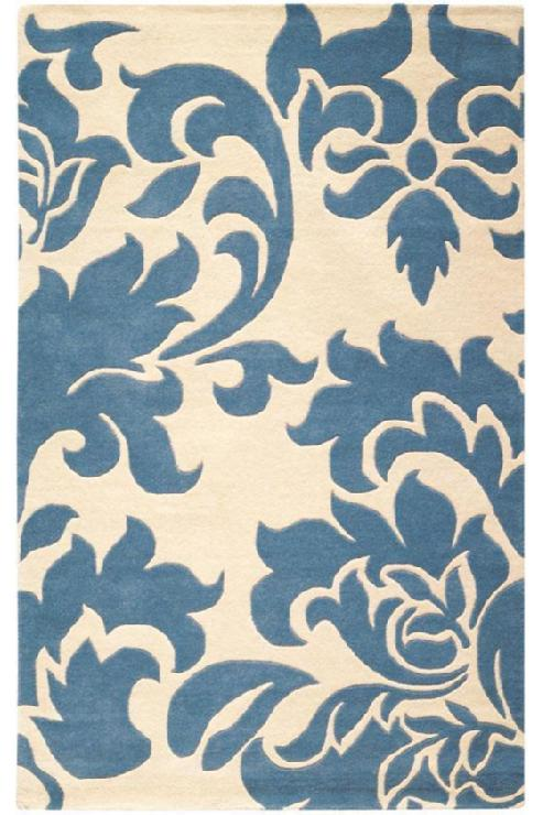 Martha stewart living grand damask area rug all weather for Martha stewart rugs home decorators