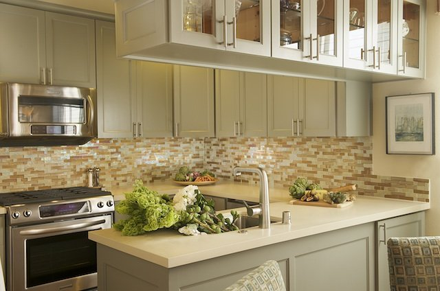 Cabinets over Kitchen Peninsula, Contemporary, kitchen, Laura Martin