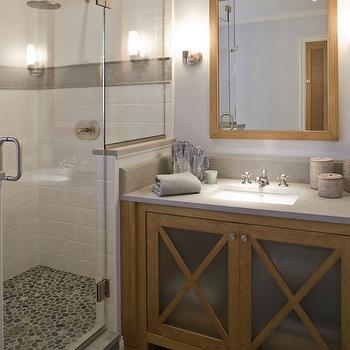 Pebble Shower Floor, Contemporary, bathroom