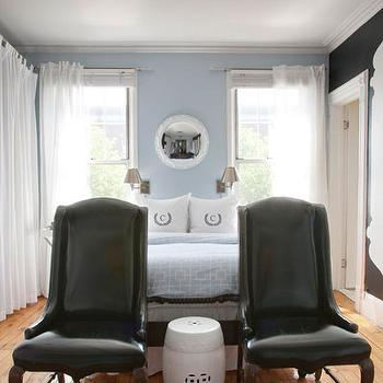 Patent Leather Chairs, Contemporary, bedroom, Lily Z Design