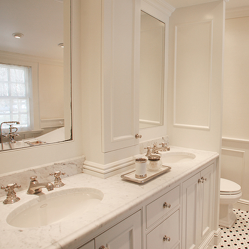 Double Vanity with Center Console, Traditional, bathroom, MSM Property Development