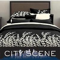 Bedding - City Scene Branches Black Duvet Set | Overstock.com - black and white, duvet cover