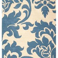 Rugs - Martha Stewart Living? Grand Damask Area Rug - All-weather Rugs - Martha Stewart Living Rugs - Rugs | HomeDecorators.com - blue, area rug