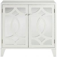 Storage Furniture - Reflections Lyre Cabinet - Cabinets - Storage Cabinets - Living Room Furniture - Furniture | HomeDecorators.com - white, mirror, cabinet