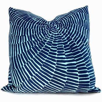 Pillows - Trina Turk Sonriza Indoor Outdoor Decorative Pillow by PopOColor - pillow, turqoise, blue