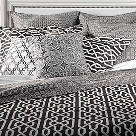 Bedding - Z Gallerie - Strada Bedding - Grey - trellis, bedding