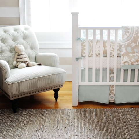 New Arrivals Inc - nurseries - infant bedding, baby bedding, crib bedding, nursery,  Picket Fence - Soft & serene.  For boy or girl nursery