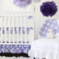 New Arrivals Inc - nurseries - girl baby bedding, baby bedding, nursery, infant bedding, crib bedding,  Fun crib bedding for a girl! Periwinkle