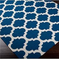 Rugs - Ironwork Trellis Dhurrie Rug - Shades of Light - blue, ironwork, trellis, rug