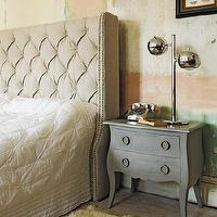 Beds/Headboards - Bath Headboard - linen, tufted, wingback, headboard