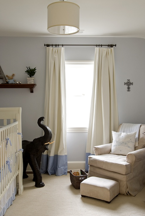 Banded Curtains Transitional Boy S Room Finnian S