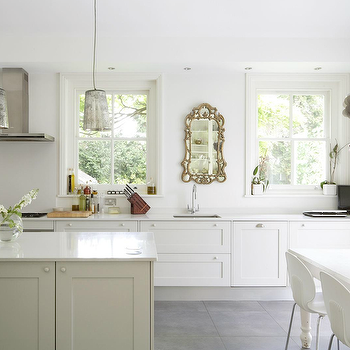 1st Option - kitchens - kitchen cabinets, mercury glass pendant, mercury glass chandelier, farmhouse dining table, white dining table, white farmhouse table, white farmhouse dining table, european kitchen, open kitchen ideas, slate tiles, slate kitchen floor, slate floor, slate tiled floor,