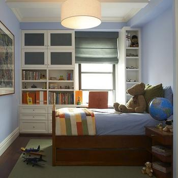 B Moore Design - boy's rooms - built ins, built in cabinets, kids built ins, kids builtin cabinets,  Adorable boy's bedroom design with blue