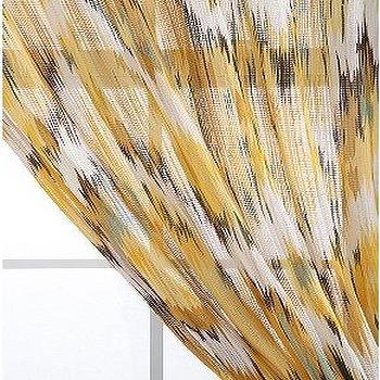 Window Treatments - UrbanOutfitters.com > Flame Stitch Curtain - yellow, flame, stitch, curtain