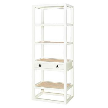 Bungalow 5 Polo Etagere In White, Bungalow-5-polo-etag-wh, Candelabra, Inc.