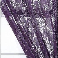 Window Treatments - UrbanOutfitters.com > Wallpaper Bouquet Burnout Curtain - purple, drapes